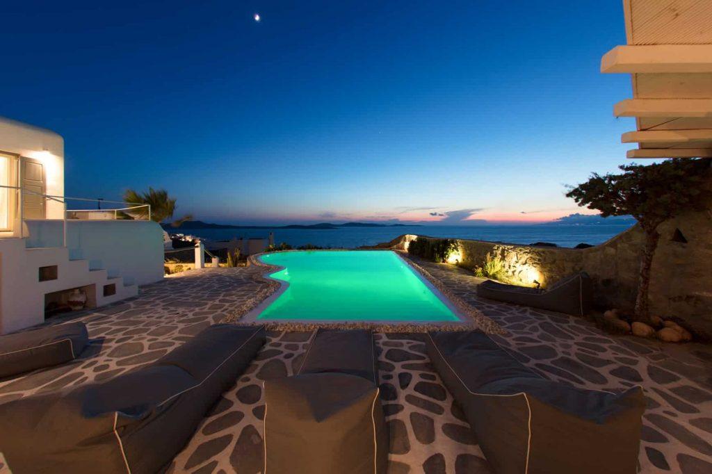 Posizione spettacolare di fronte all'isola di Delos